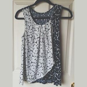NY&C Navy Blue & White Patterned Dress